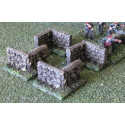15-DI002 Stone Wall Corners (4 piece) 15mm Scale
