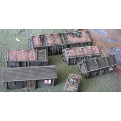 EC311 armored barracks & store (2+3) Vietnam emplacements