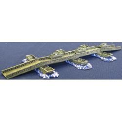 P005 Bailey pontoon bridge (Allied) 4 decks 3 large pontoons