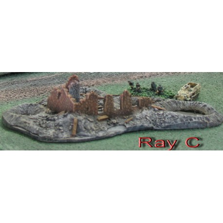 BAR004 Ruin with 3 Shell Craters